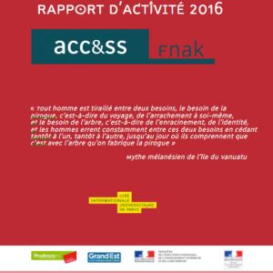 Rapport annuel FnAK 2016